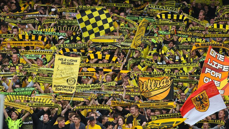 Fans in Dortmund's Westfalenstadion are known as some of the most passionate in Europe