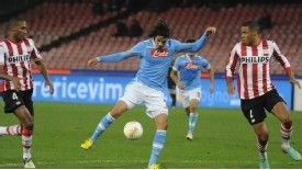 Edinson Cavani struck for Napoli against PSV