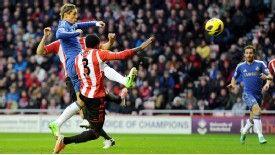 Fernando Torres fires Chelsea ahead at Sunderland