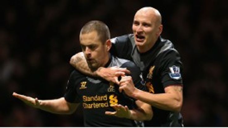 Joe Cole netted an equaliser for Liverpool against his former club