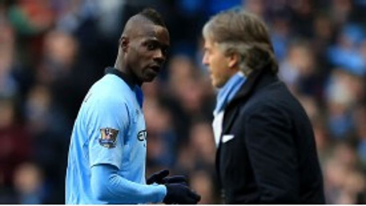 Mario Balotelli was substituted after failing to make an impact
