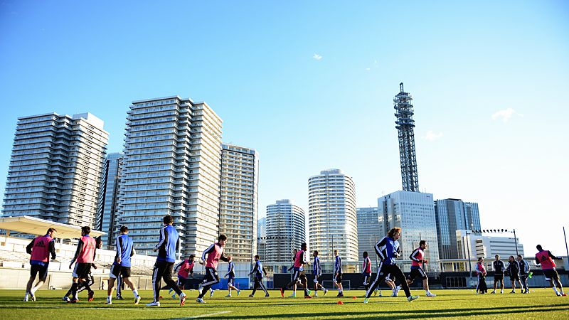 Chelsea are put through their paces in Yokohama