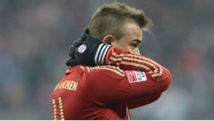 Xherdan Shaqiri was left frustrated by Bayern's inability to finish chances