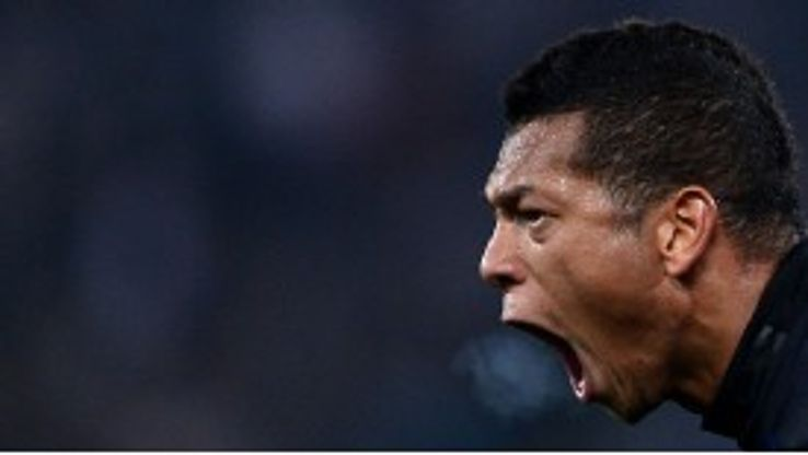 Fredy Guarin shows his frustration during the defeat to Lazio