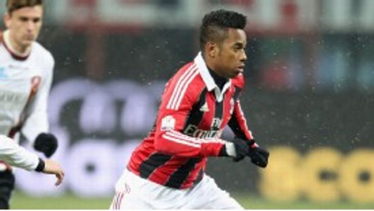 Robinho has told Milan he wants to return to former club Santos