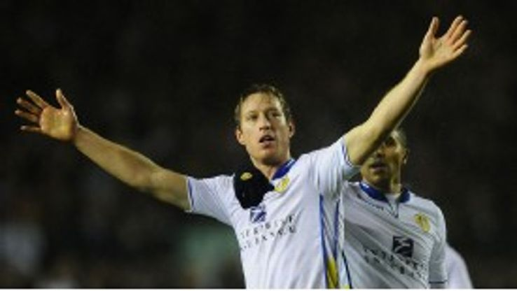 Luciano Becchio celebrates his opener against Chelsea