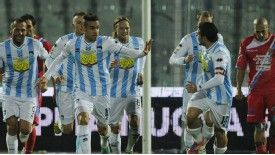 Mervan Celik celebrates his goal for Pescara