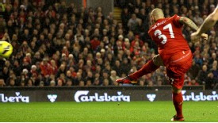 Martin Skrtel fires Liverpool into the lead