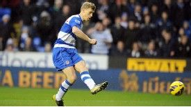 Pavel Pogrebnyak fires home the opening goal for Reading against West Ham