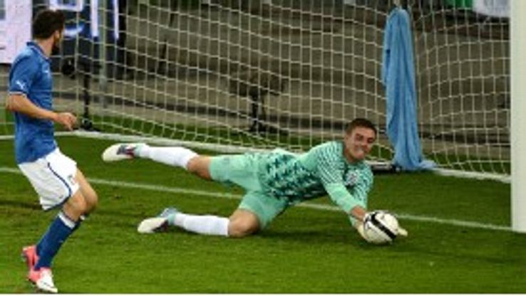 Jack Butland makes his England debut against Italy