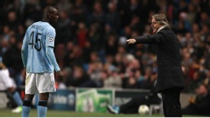 Mancini admitted that he lost his temper with Balotelli