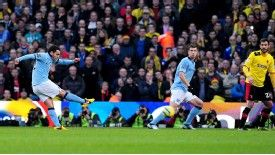 Carlos Tevez netted an early goal for Manchester City against Watford