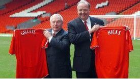 Tom Hicks and George Gillett arrived at Liverpool in 2007
