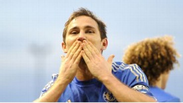 Frank Lampard is edging in on Chelsea's all-time goalscoring record