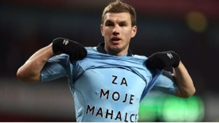 Edin Dzeko is Manchester City's top scorer this season