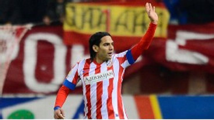 Falcao found the net in Atletico's win over Sevilla
