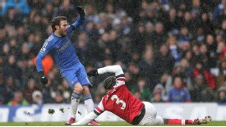 Juan Mata fires Chelsea into the early lead