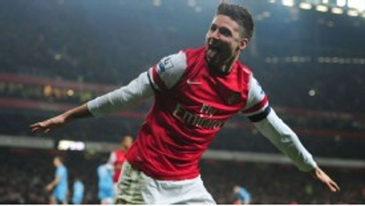 Olivier Giroud joined Arsenal from Ligue 1 side Montpellier last summer