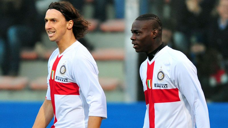 Zlatan Ibrahimovic and Mario Balotelli played together at Inter Milan