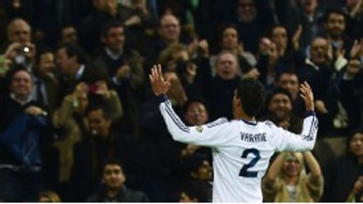 Raphael Varane netted the equaliser for Real Madrid against Barca in the Copa del Rey