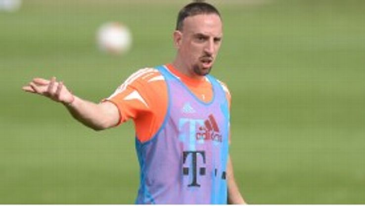Ribery was surprised to find the intruder sitting in his place in the dressing room