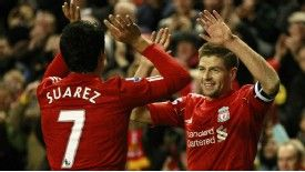 Suarez and Gerrard: The sulking striker and the club legend.