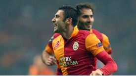 Burak Yilmaz broke the deadlock for Galatasaray against Schalke with a classy strike