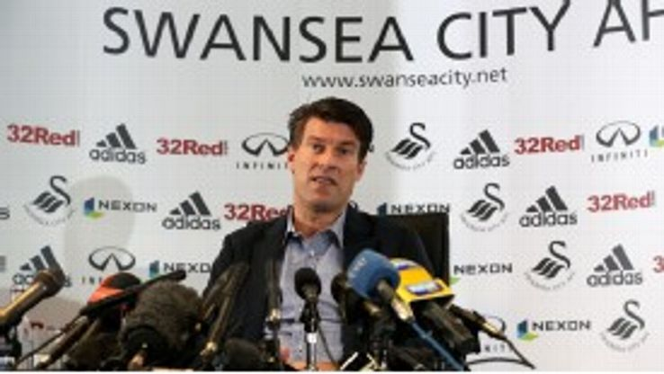 Michael Laudrup has faced questions over his future after an impressive debut season with Swansea