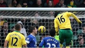 Kei Kamara scored Norwich's equaliser against Everton