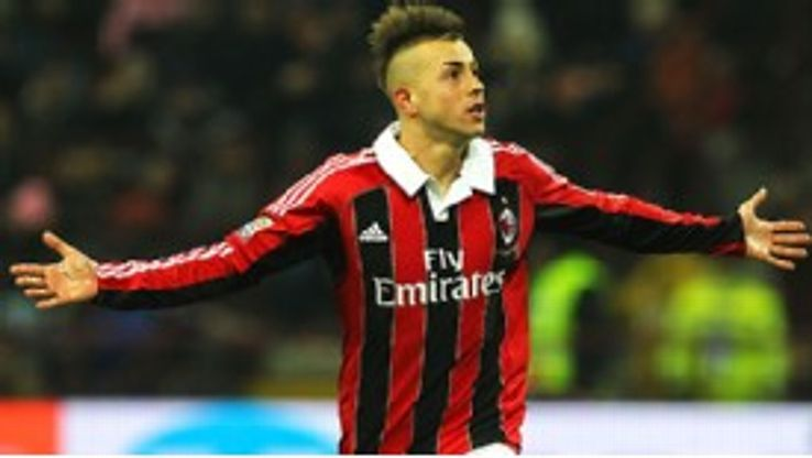 AC Milan's Stephan El Shaarawy celebrates his goal against Inter at the weekend