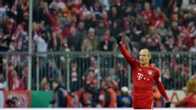 Arjen Robben scored the winner in Bayern Munich's DFB Pokal game against Borussia Dortmund