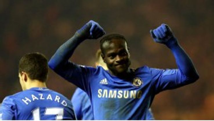 Victor Moses scored Chelsea's second goal against Middlesbrough in the FA Cup