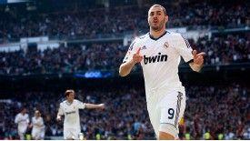 Karim Benzema celebrates his opener