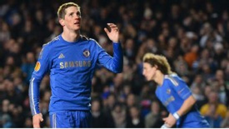 Fernando Torres clattered his penalty against the crossbar