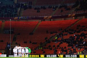 Inter fans decided against making a trip to the San Siro for the game against Spurs