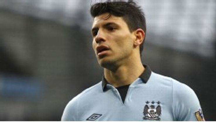 Aguero's second season in England has been disrupted by injury
