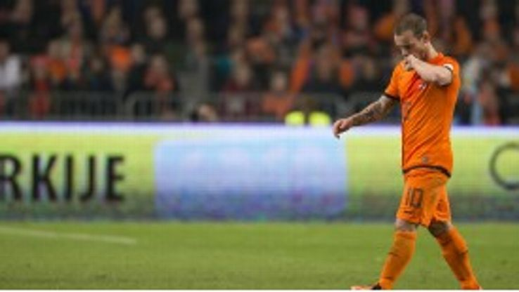 Wesley Sneijder is closing in on 100 caps for the Netherlands