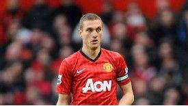Nemanja Vidic was injured when Man City won the Premier League title from under Man United's noses last season