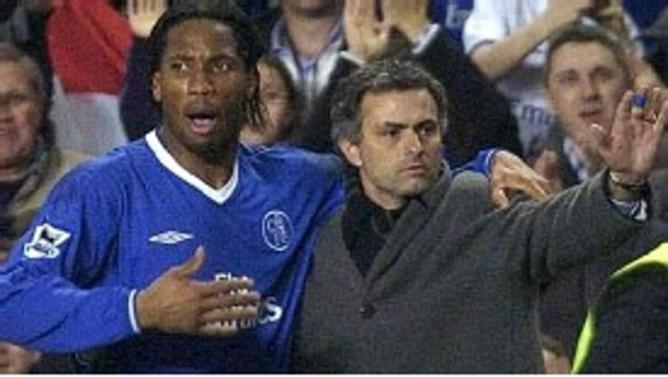 Didier Drogba and Jose Mourinho are firm friends