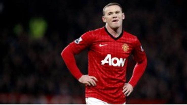 Wayne Rooney was booked during the first half of the Manchester derby