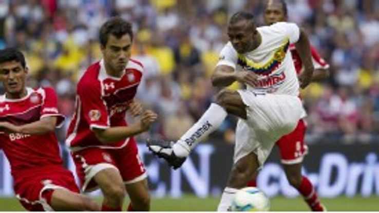 Atletico Madrid target Christian Benitez in action for Mexican side America