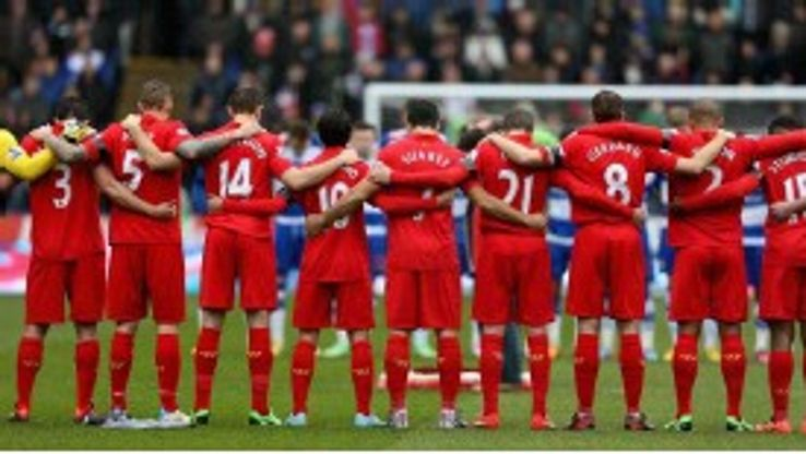 Liverpool observed a minute's silence prior to their match at Reading in memory of the Hillsborough disaster