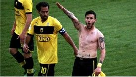 Giorgos Katidis was banned for this fascist salute