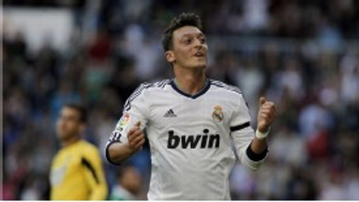 Mesut Ozil opened the scoring for Real Madrid against Real Betis