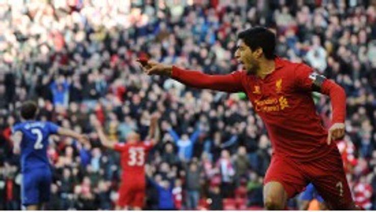 Luis Suarez scored 23 Premier League goals this season