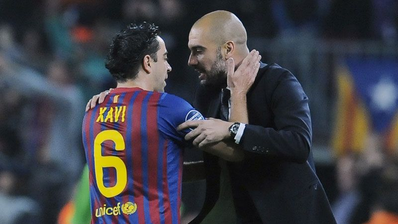 Xavi, Pep Guardiola
