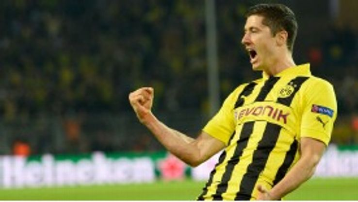 Robert Lewandowski gave Dortmund the lead against Real