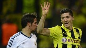 Robert Lewandowski scored four goals against Real Madrid.