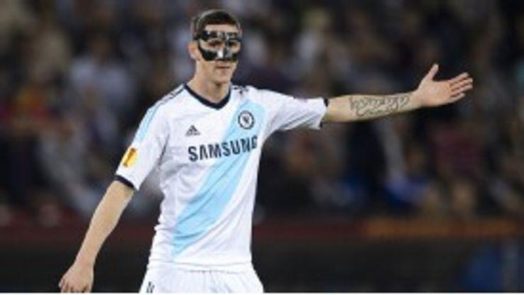 Fernando Torres looks for the ball in Chelsea's game against FC Basel