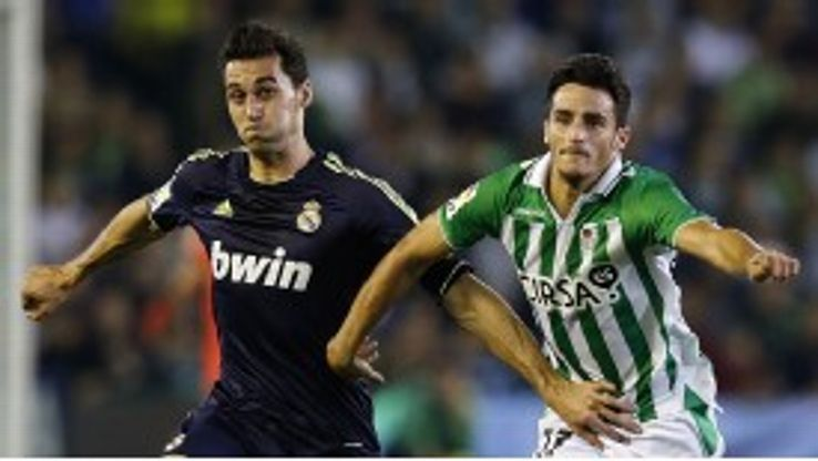 Juan Carlos in action for Real Betis against Real Madrid